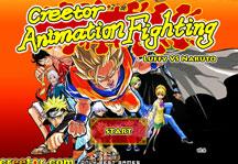 Creetor Animation Fighting Title Screen