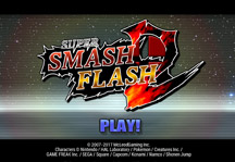 Super Smash Flash 2 1.0.3 Title Screen