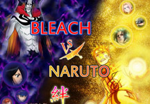 Bleach vs Naruto 3.0 Title Screen