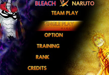 Bleach vs Naruto 3.1 Title Screen