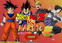 Dragon Ball Z vs Naruto CR Vegeta Title Screen
