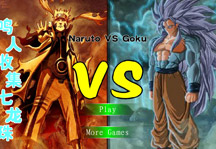 Naruto vs Goku Title Screen