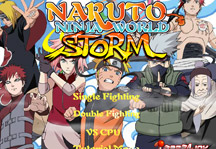 Naruto Ninja World Storm Title Screen