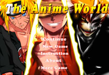 The Anime World Title Screen