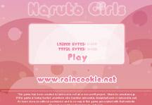 Naruto Girls Dress Up Title Screen