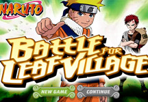 Naruto Battle for Leaf Village Title Screen