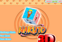 Naruto 3D Cube Title Screen