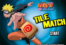 Naruto Tile Match Title Screen