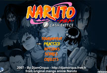 Naruto Flash Battle 1.4 Title Screen
