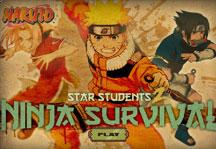 Naruto Star Students Ninja Survival Title Screen