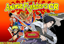 Anime Fighters CR Sasuke Title Screen
