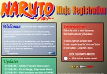 Naruto Ninja Creator Title Screen