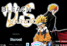 Bleach vs Naruto 1.0 Title Screen