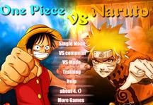 One Piece vs Naruto 3.0 Title Screen