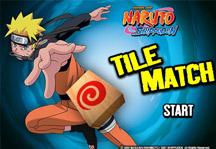 Naruto Tile Match Title Screen
