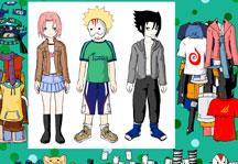 Naruto Team 7 Dress Up Gameplay